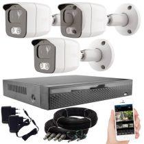Acesee KPC Ts23 - 3 kamerás éjjellátó kamera rendszer
