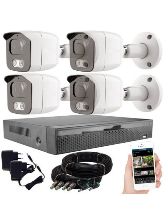 Acesee KPC Ts23 - 4 kamerás éjjellátó kamera rendszer