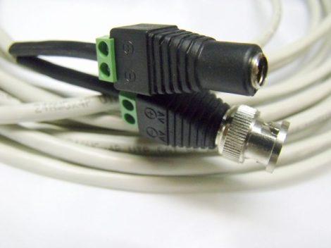 Szerelt UTP 12V táp - és videokábel