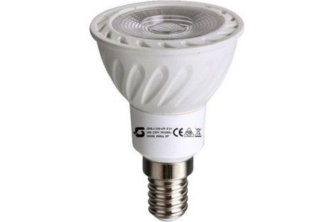 E14 LED izzó JDR COB 6W