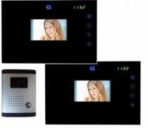 """Videó kamerás kaputelefon szett 2x 4.2"""" LCD / TFT színes, érintőképernyős monitorral"""