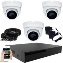 Acesee KPC Ts28 - 3 kamerás éjjellátó kamera rendszer 2M Pixel