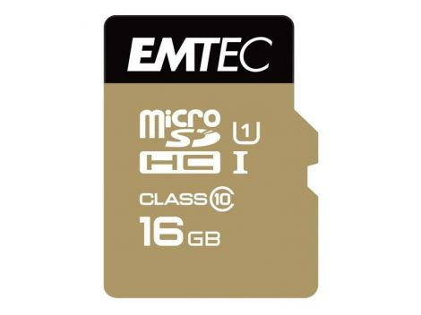 EMTEC 16 GB microSDHC Class 10  memóriakártya + adapter