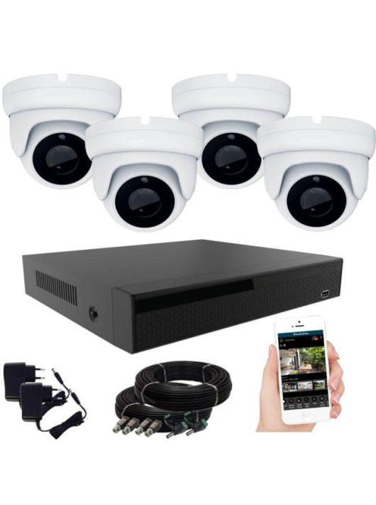 KPC Ts28 - 4 kamerás éjjellátó kamera rendszer HD 1280X720P felbontás