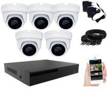 KPC Ts28 - 5 kamerás éjjellátó kamera rendszer HD 1280X720P felbontás