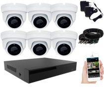 KPC Ts28 - 6 kamerás éjjellátó kamera rendszer HD 1280X720P felbontás