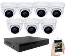 KPC Ts28 - 7 kamerás éjjellátó kamera rendszer HD 1280X720P felbontás
