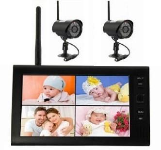 Vezeték nélküli monitoros 2 WiFi kamerás kamera rendszer VGA SD kártya rögzítés