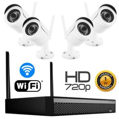 Vezeték nélküli HD IP 4 kamerás kamera rendszer
