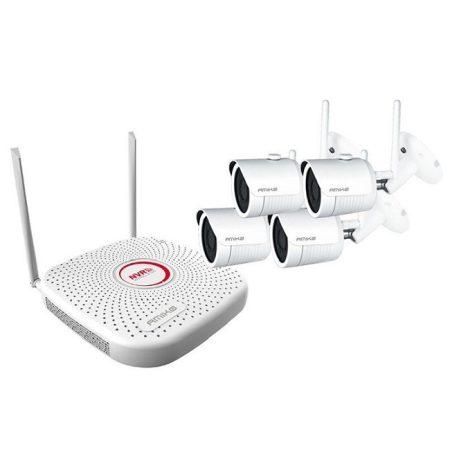 Vezeték nélküli Full HD IP 4 kamerás kamera rendszer