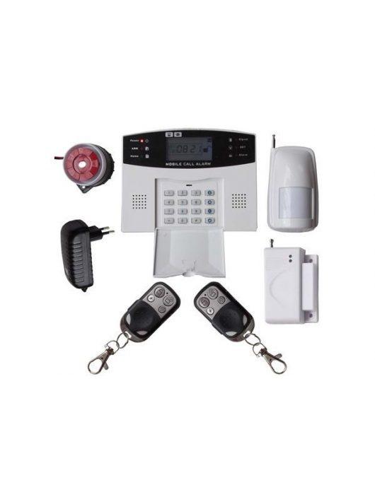Global vezeték nélküli riasztórendszer GSM SMS 1db PIR 99 zónás