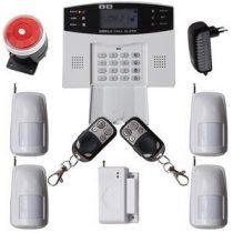 Global vezeték nélküli riasztórendszer GSM SMS 4db PIR