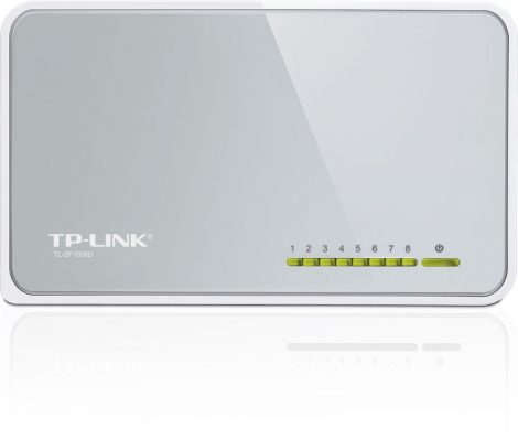 8 portos Switch hálózati elosztó TP-LINK TL-SF1008D