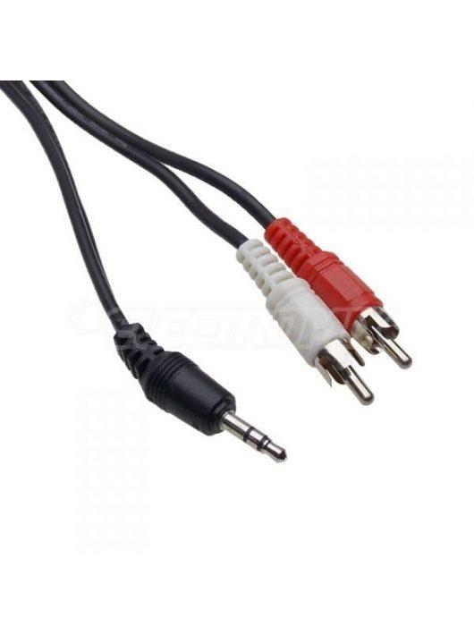 RCA - JACK sztereó audió kábel