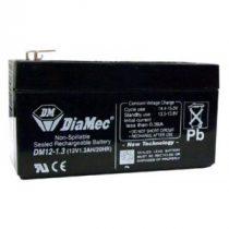 1.3 Ah 12V zselés akkumulátor DIAMEC