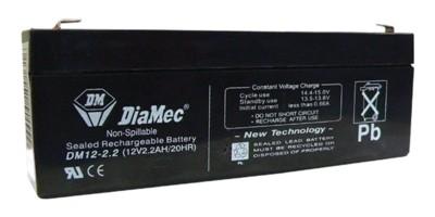 2.2 Ah 12V zselés akkumulátor DIAMEC