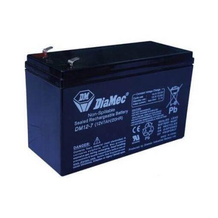 7 Ah 12V zselés akkumulátor DIAMEC