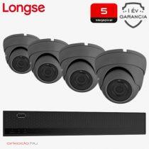 5 Megapixeles 4 dome kamerás biztonsági kamerarendszer