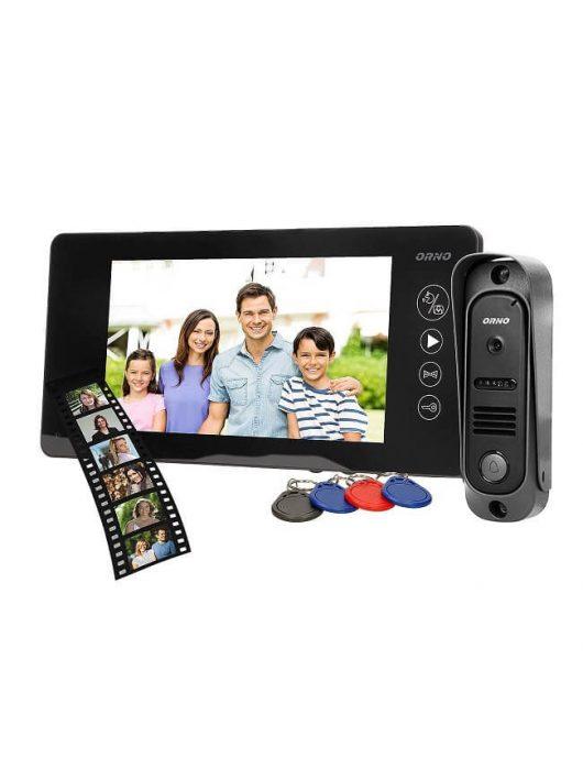 Színes videó kaputelefon szett és biztonsági kamera ORNO OR-VID-JS-1040-B fekete