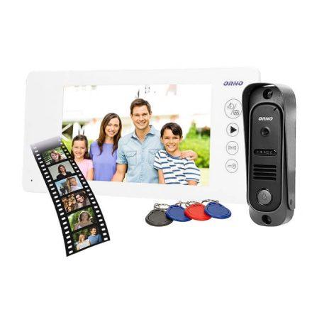 Színes videó kamerás kaputelefon szett és biztonsági kamera ORNO OR-VID-JS-1053/W fehér
