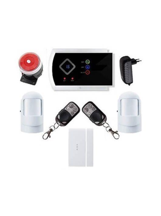 Security GSM-SMS vezeték nélkül lakásriasztó okostelefon 2db PIR