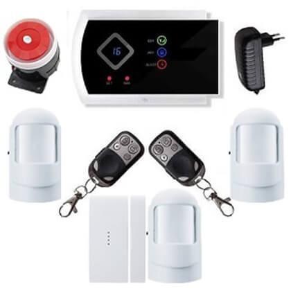 Security GSM-SMS vezeték nélkül lakásriasztó okostelefon 3db PIR