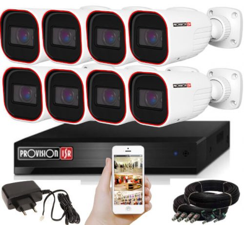 Provision FULL HD 2 Mpx 8 kamerás kamerarendszer