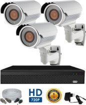 AHD-42 HD 3 kamerás kamerarendszer 5X ZOOM