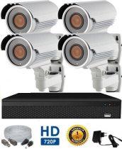 AHD-42 HD 4 kamerás kamerarendszer 5X ZOOM