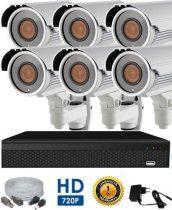 AHD-42 HD 6 kamerás kamerarendszer 5X ZOOM