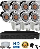 AHD-42 HD 8 kamerás kamerarendszer 5X ZOOM