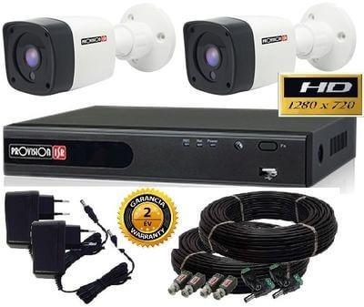 Provision 1.3 Mega-Pixel  2 kamerás AHD kamera rendszer