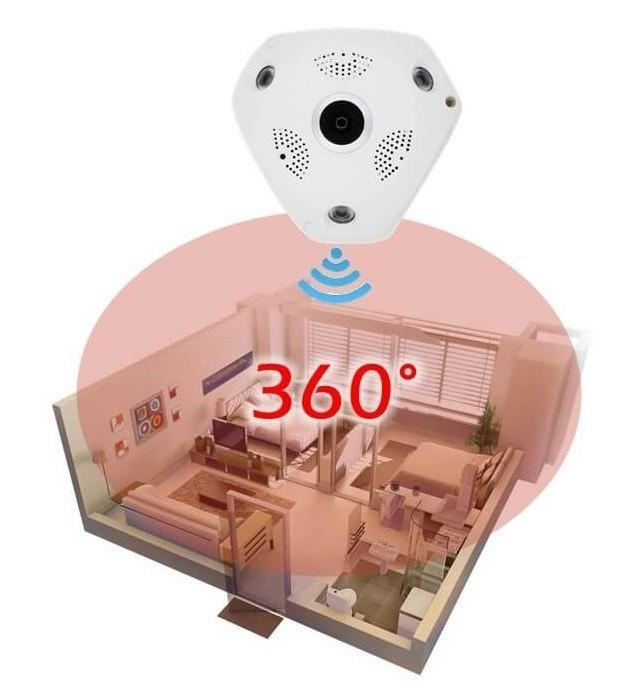 3D 360° Panoráma kamera Wifi vezeték nélküli