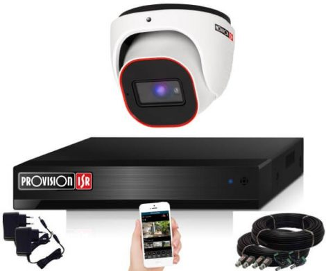 Provision 2 Mpx FULL HD 1 dome kamerás megfigyelő kamerarendszer