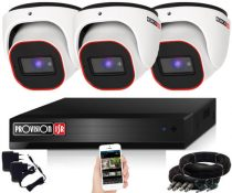 Provision 2 Mpx FULL HD 3 dome kamerás megfigyelő kamerarendszer