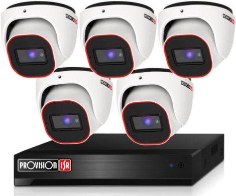 Provision 2 Mpx FULL HD 5 dome kamerás megfigyelő kamerarendszer
