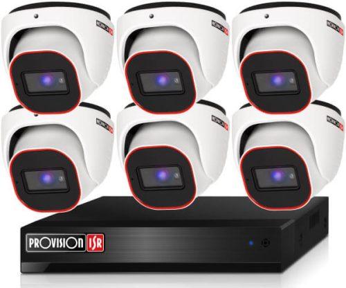 Provision 2 Mpx FULL HD 6 dome kamerás megfigyelő kamerarendszer