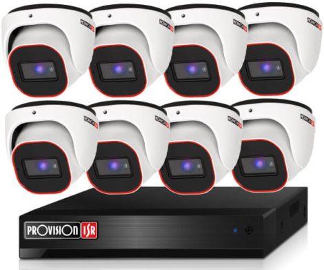 Provision 2 Mpx FULL HD 8 dome kamerás megfigyelő kamerarendszer