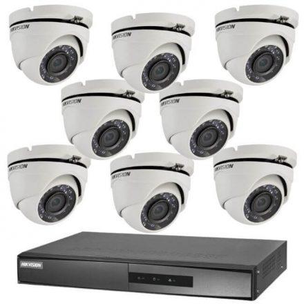 Hikvision TurboHD-TVI 8 dome kamerás kamerarendszer