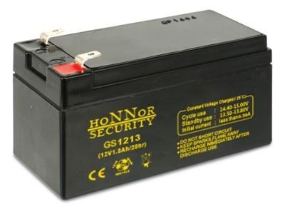 Honnor HS12-1.3 riasztó akkumulátor 12V 1.3AH játékokba akkumulátor