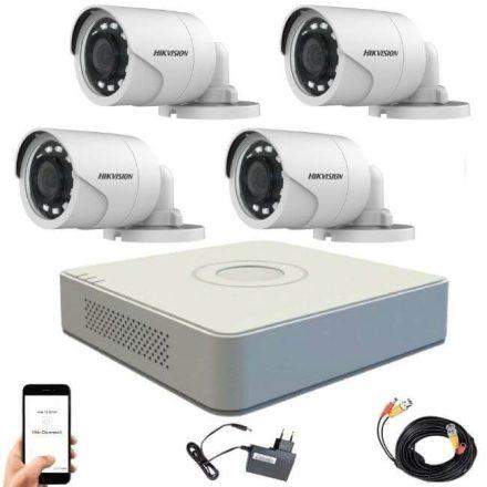 Hikvision 1080P TurboHD 4 kamerás bullet kamera rendszer