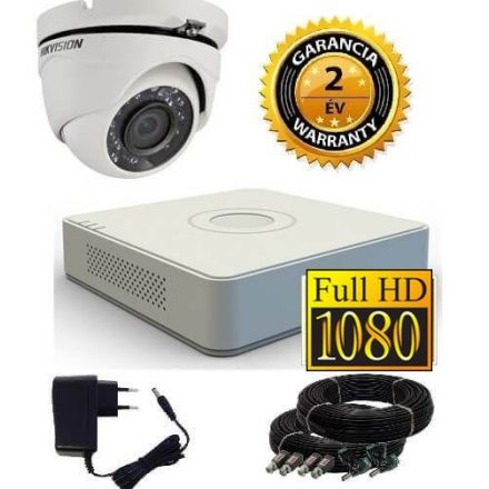 Hikvision 1080P TurboHD 1 kamerás dome kamera rendszer