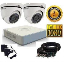 Hikvision 720P TurboHD 2 kamerás dome kamera rendszer