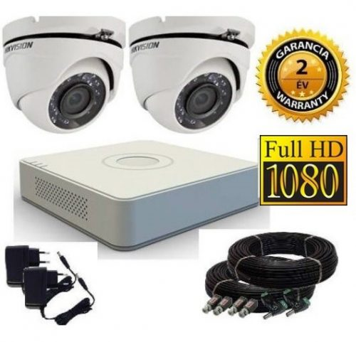 Hikvision 1080P TurboHD 2 kamerás dome kamera rendszer