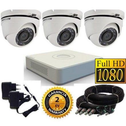 Hikvision 1080P TurboHD 3 kamerás dome kamera rendszer