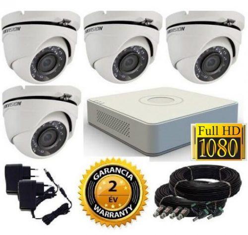 Hikvision 1080P TurboHD 4 kamerás dome kamera rendszer