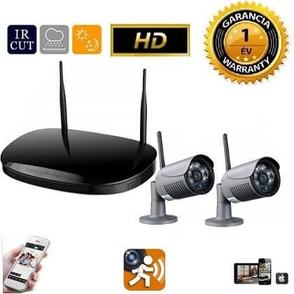 Vezeték nélküli IP kamera rendszer 2db HD WiFi kamerával fekete