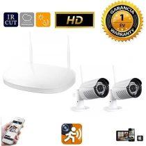 Vezeték nélküli IP kamera rendszer 2db HD WiFi kamerával fehér