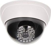 ORNO fényérzékelős világító LED-es dome álkamera