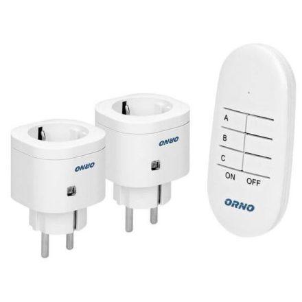 ORNO vezérelhető konnektor szett két hálózati aljzattal OR-GB-439(GS)